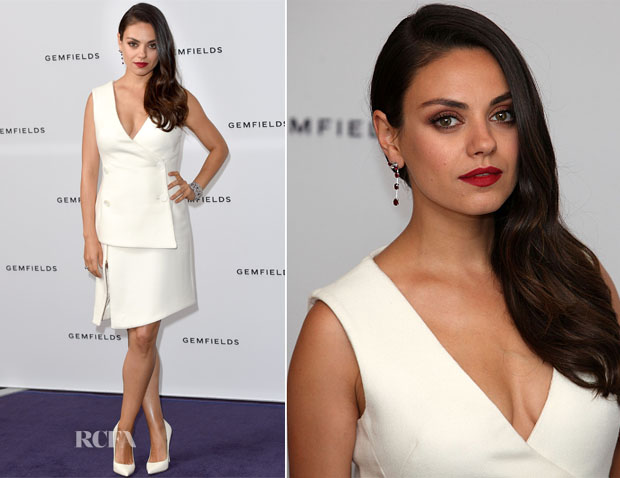 Mila Kunis In Antonio Berardi - Gemfields Ruby Launch Event