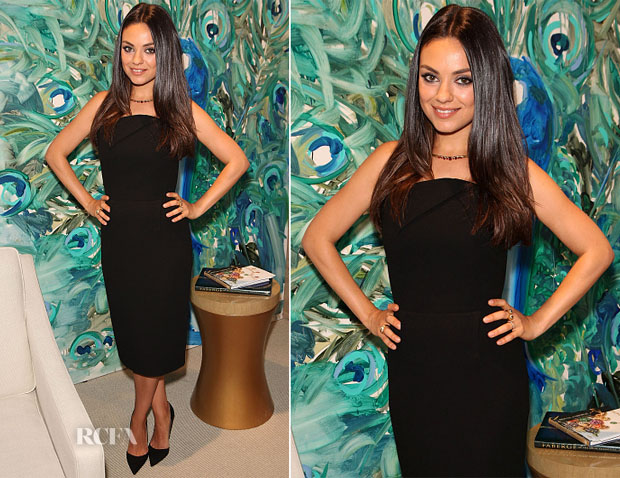 Mila Kunis In Roland Mouret - Faberge Cocktail Reception