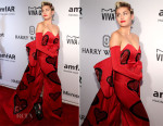Miley Cyrus In Moschino - New York 2015 amfAR Inspiration Gala