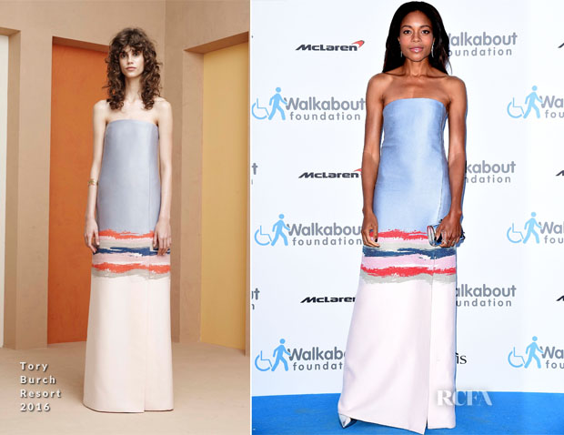 Naomie Harris In Tory Burch - Walkabout Foundation Gala
