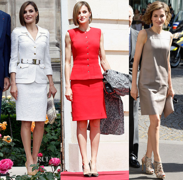 Queen Letizia of Spain's Six Looks In Three Days For Paris State Visit 2