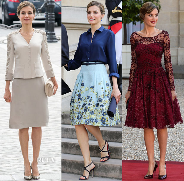 Queen Letizia of Spain's Six Looks In Three Days For Paris State Visit