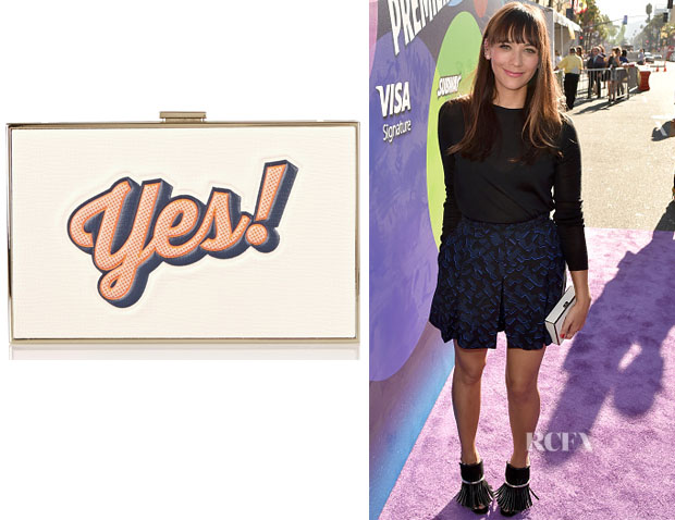 Rashida Jones' Anya Hindmarch 'Imperial Yes No' Clutch