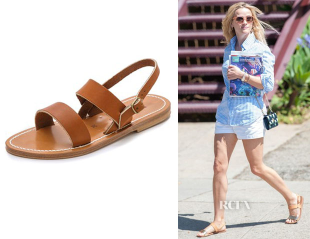 Reese Witherspoon's K. Jacques 'Barigoule' Two Band Sandals