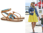 Reese Witherspoon's Valentino Studded Two-Tone Leather Sandals