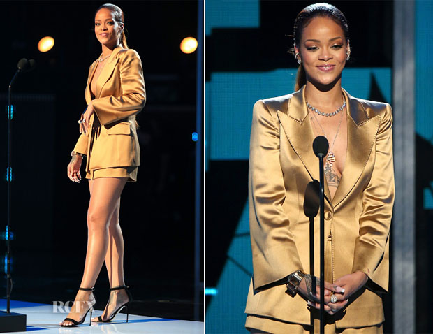 Rihanna In Giorgio Armani - 2015 BET Awards