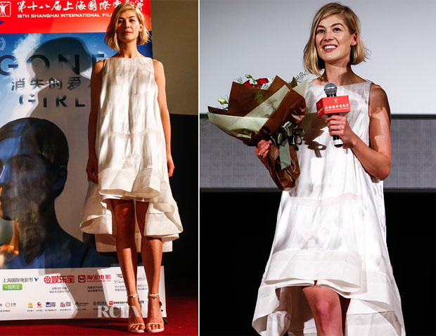 Rosamund Pike In Antonio Berardi - 'Gone Girl' Shanghai International Film Festival Premiere