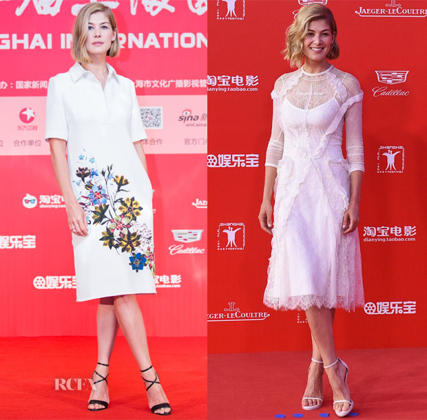 Rosamund Pike In Erdem & Givenchy - 'Gone Girl' Press Conference & Shanghai International Film Festival Closing Ceremony