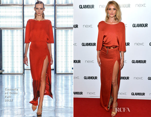 Rosie Huntington-Whiteley In Cushnie et Ochs - 2015 Glamour Woman of the Year Awards