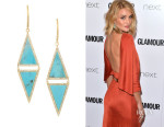 Rosie Huntington-Whiteley's Jennifer Meyer Turquoise And Diamond Earrings
