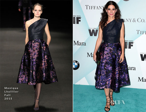 Sandra Bullock In Monique Lhuillier - Women in Film 2015 Crystal + Lucy Awards