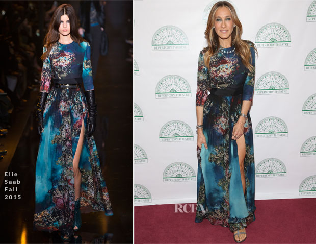 Sarah Jessica Parker In Elie Saab - Irish Repertory Theatre's YEATS The Celebration