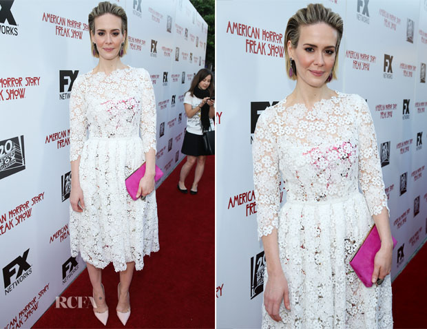 Sarah Paulson In Yanina Couture - FX's 'American Horror Story Freakshow' FYC Special Screening