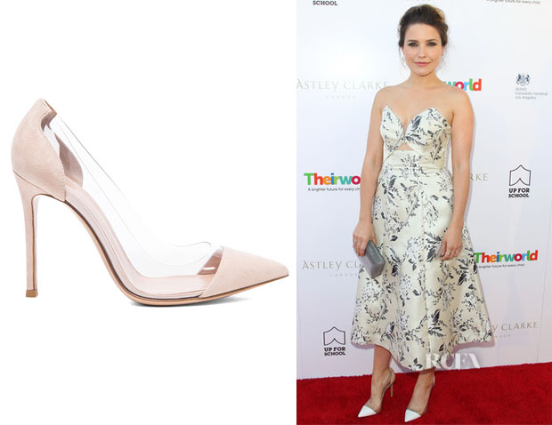 Sophia Bush's Gianvito Rossi Plexy Suede Pumps
