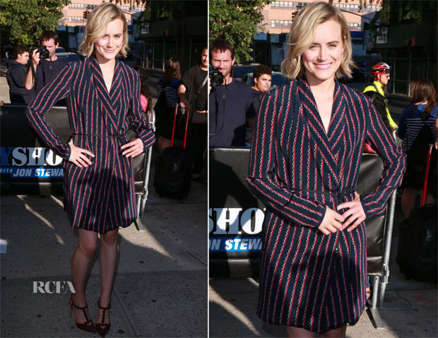 Taylor Schilling In Kempner - 'The Daily Show With Jon Stewart