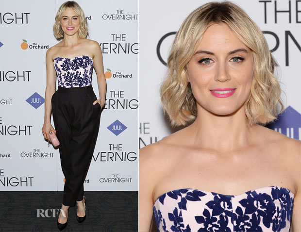 Taylor Schilling In Mary Katrantzou & Philosophy - 'The Overnight' New York Premiere