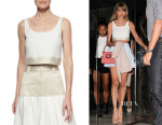 Taylor Swift's Rag & Bone 'Elsa' Textured Cropped Top
