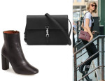 Taylor Swift's Topshop 'Magnum' Leather Ankle Boots And Gucci 'Jackie' Convertible Wallet