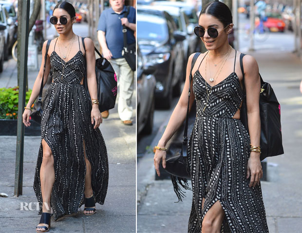 Vanessa Hudgens In Ecote - Out In New York City