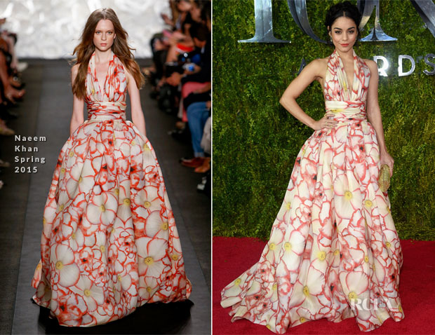 Vanessa Hudgens In Naeem Khan - 2015 Tony Awards