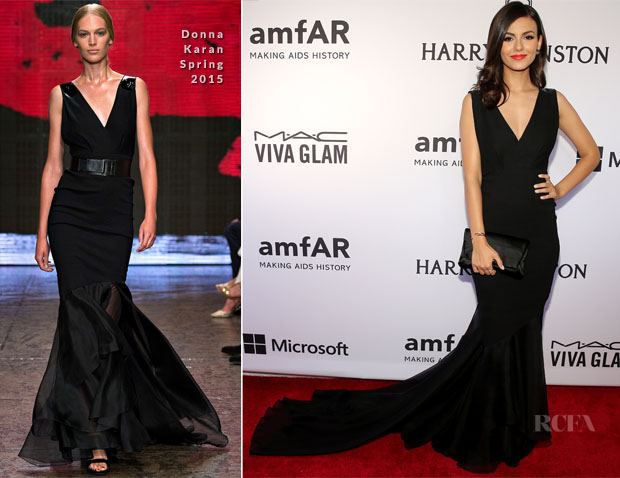 Victoria Justice In Donna Karan - 2015 amfAR Inspiration Gala New York2