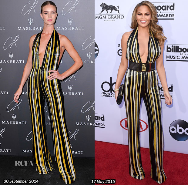 Who Wore Balmain Better Rosie Huntington-Whiteley or Chrissy Teigen