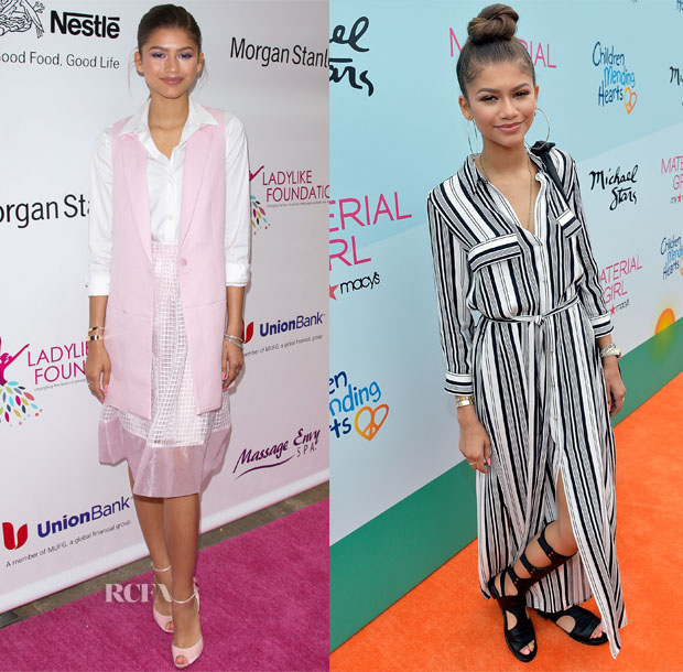 Zendaya Coleman In Elizabeth & James and L'Agence - Women Of Excellence Scholarship Luncheon & Children Mending Hearts Fundraiser