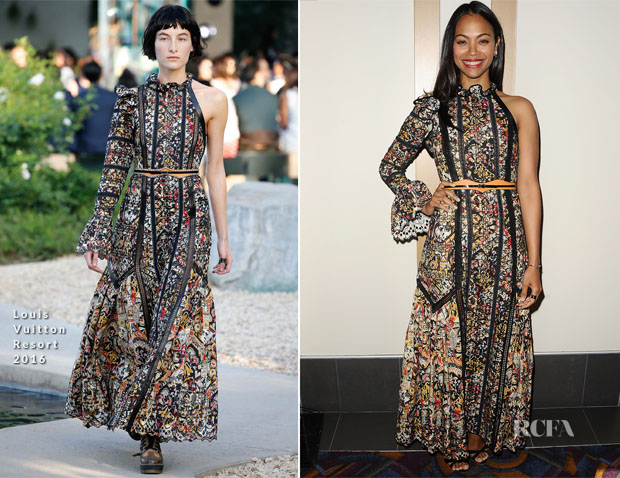 Zoe Saldana In Louis Vuitton - 'Infinitely Polar Bear' LA Premiere