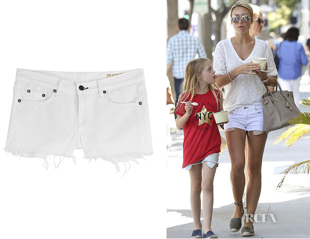 Alex Gerrard's Rag & Bone Cut-Off Denim Shorts