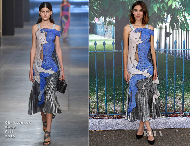 Alexa Chung In Christopher Kane - The Serpentine Gallery Summer Party