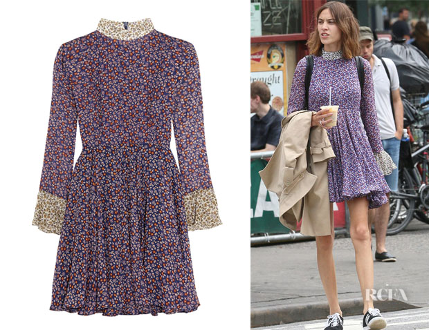 Alexa Chung's Topshop Unique 'Ottoline' Floral-Print Silk-Chiffon Mini Dress