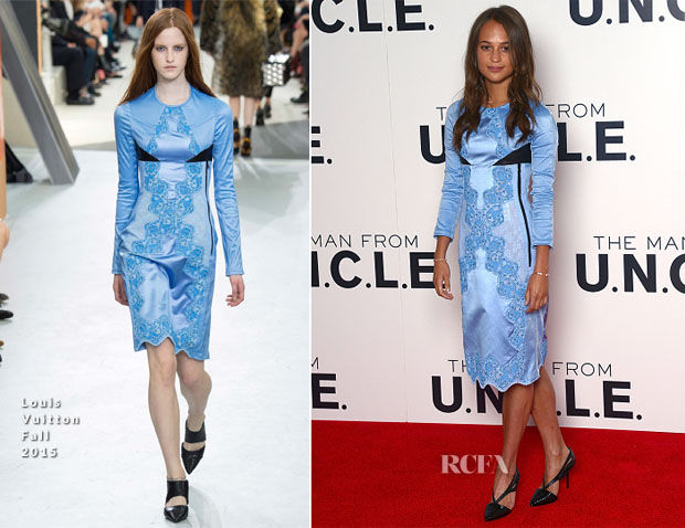 Alicia Vikander In Louis Vuitton - 'The Man From UNCLE