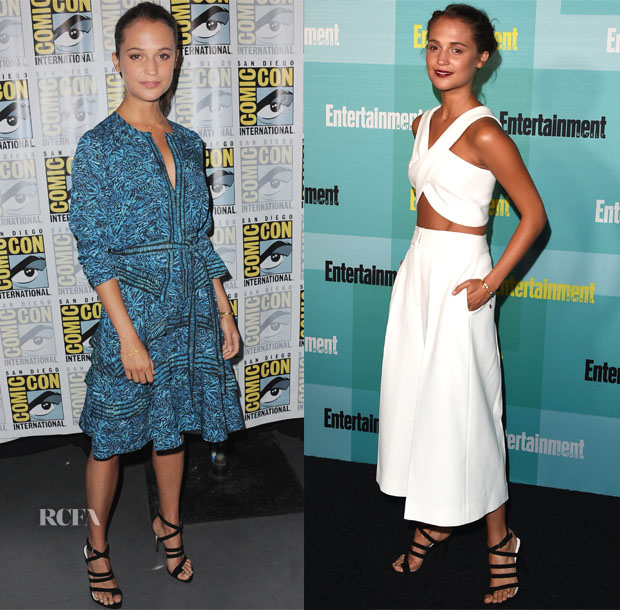 Alicia Vikander In Proenza Schouler & Rosetta Getty - 'The Man from uncle' Panel & Entertainment Weekly's Annual Comic-Con Party