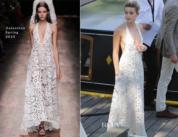 Amber Heard In Valentino Out In Amsterdam Red Carpet Fashion Awards