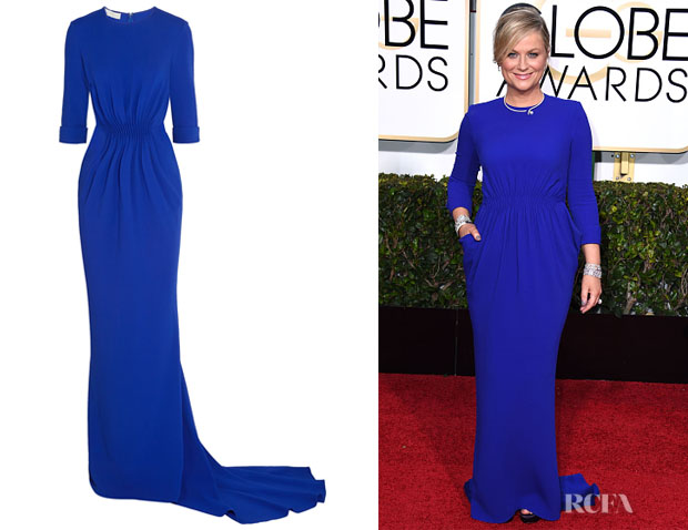 Amy Poehler S Stella Mccartney Crepe Gown