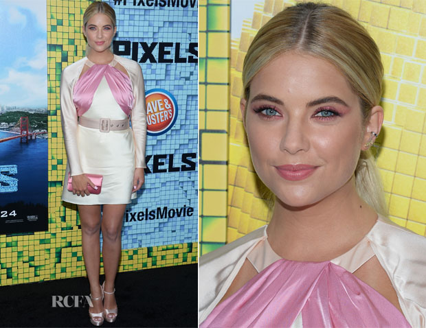 Ashley Benson In Miu Miu - 'Pixels' New York Premiere