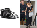 Ashley Tisdale's Saint Laurent 'Nu Pieds' Sandals
