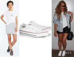 Beyonce Knowles' The Laundry Room Zodiac Sign Tee And Converse 'Chuck Taylor All Star' Sneakers