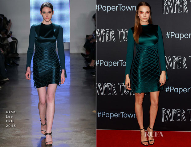 Cara Delevingne In Dion Lee - 'Paper Towns' Sydney Premiere