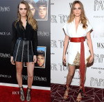 Cara Delevingne In Saint Laurent & Alexandre Vauthier Couture - 'Paper Towns' Live Stream Concert & Screening