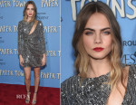 Cara Delevingne In Saint Laurent - 'Paper Towns' New York Premiere