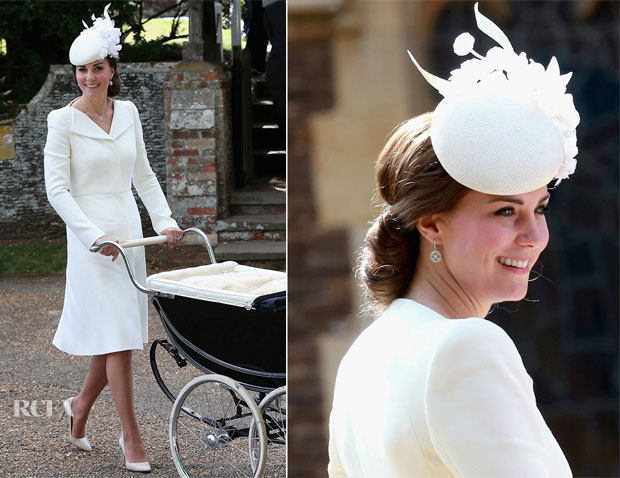 Catherine, Duchess of Cambridge In Alexander McQueen  - Princess Charlotte's Christening