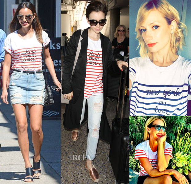 Celebrities Love Madewell et Sézane Paris Mon Amour & New York My Love Tees