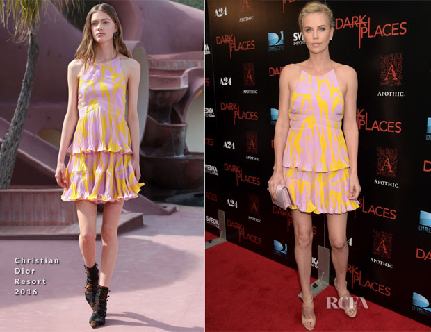 Charlize Theron In Christian Dior - Premiere Of DIRECTV's 'Dark Places'
