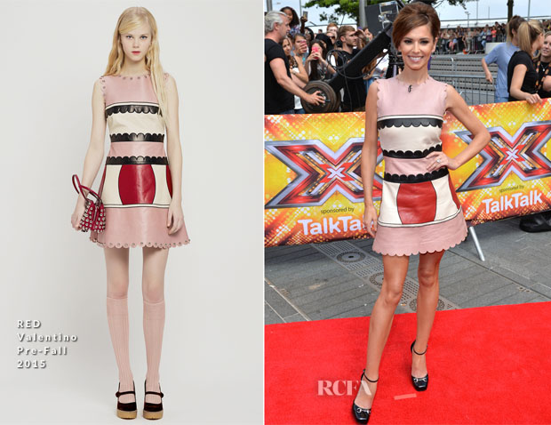 Cheryl Fernandez-Versini In RED Valentino - X Factor London Auditions