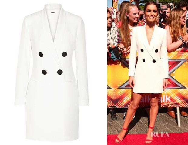 Cheryl Fernandez-Versini's Adam Lippes Double-Breasted Mini Dress