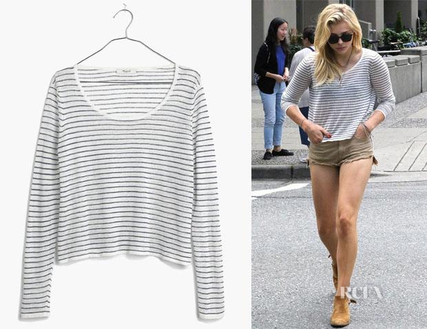 Chloe Grace Moretz' Madewell 'Skipper' Pullover Sweater