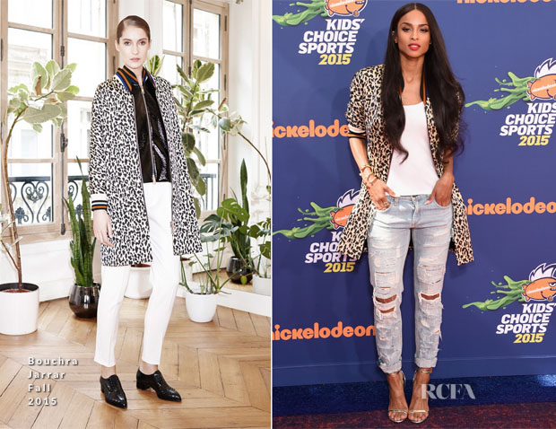 Ciara In Bouchra Jarrar - Nickelodeon Kids' Choice Sports Awards 2015