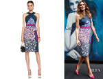 Cindy Crawford's Peter Pilotto Halter Viscose-Blend Midi Dress