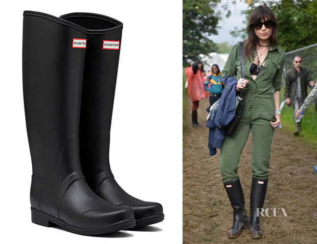 Daisy Lowe's Hunter Original 'Sandhurst' Boots